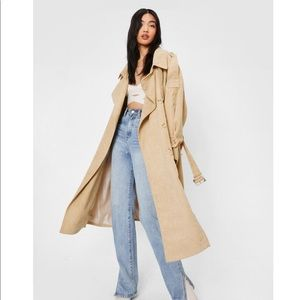 Corduroy Oversized belted trench coat